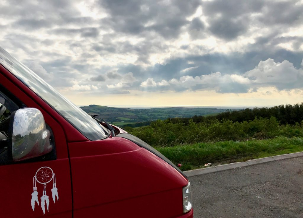 VW-T4-Driving-Round-Lyme-Bay-edvantures-SaltyJobs
