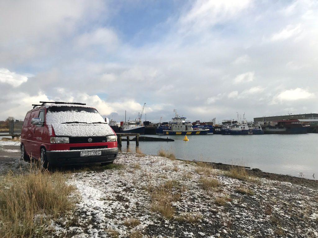 Eddie-in-the-snow-visiting-Excelsior-Lowestoft-SaltyJobs