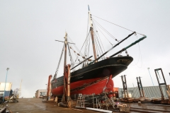 Excelsior on the slip in her yard