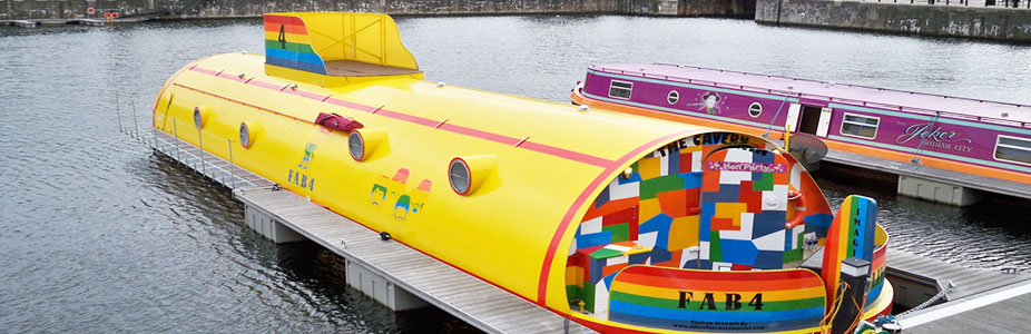 Hollywood Barges - Yellow Submarine hotel boat