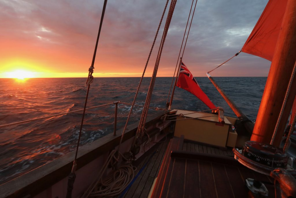 saltyjobs-sailing-sunset-paimpol-our-daddy-looe-lugger