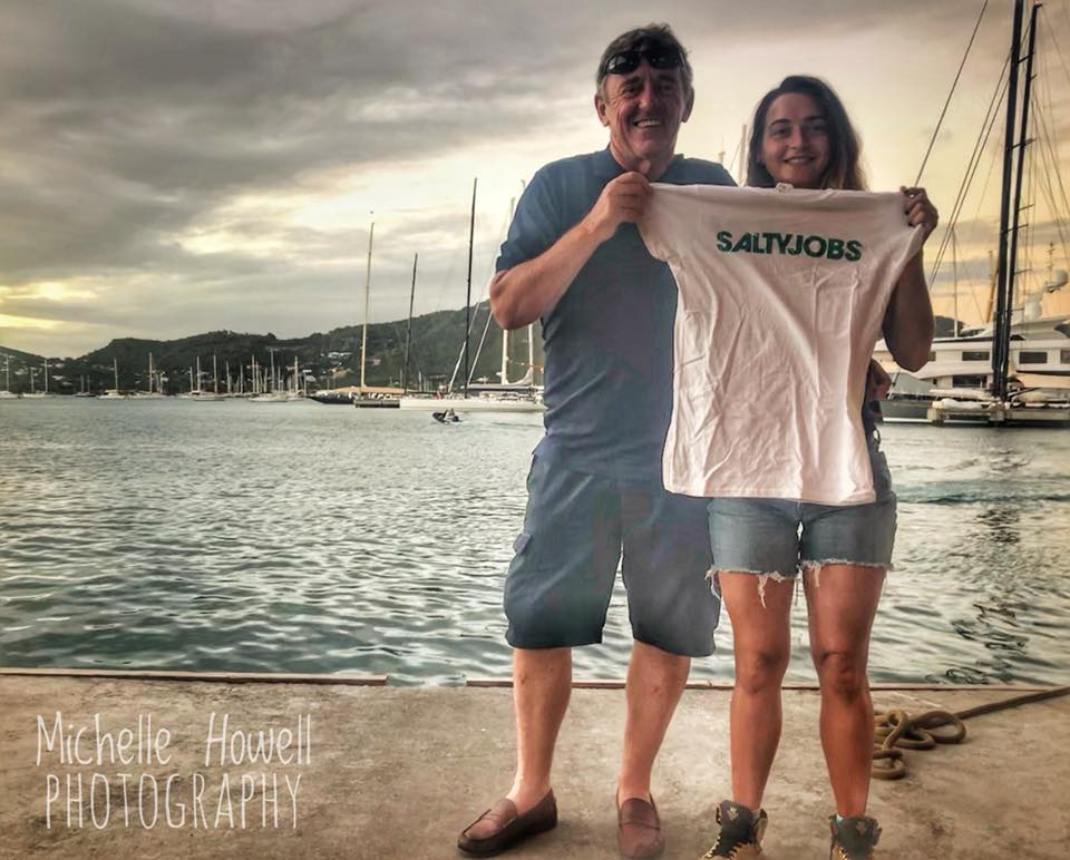 SaltyJobs T-Shirt Sails To Antigua