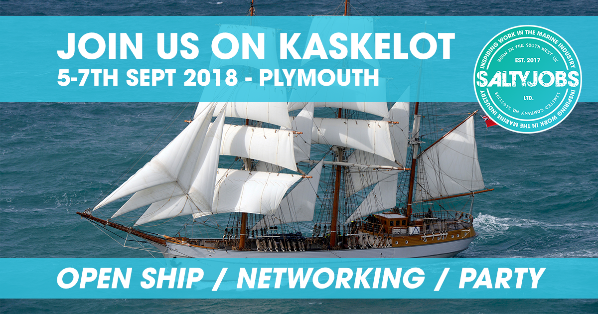 Join Us Onboard Tall Ship Kaskelot - 5-7th Sept 2018 - Plymouth, UK